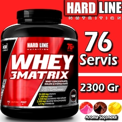 Hardline Whey 3 Matrix 2300 Gr 76 Servis Whey Protein Tozu
