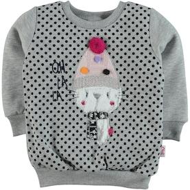 Civil Girls Kız Çocuk Sweatshirt 2-6 Yaş Gri