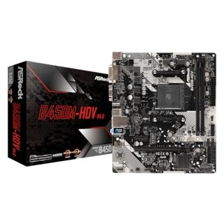 ASRock B450M-HDV R4.0 AMD B450 3200 MHz DDR4 Soket AM4 mATX Anakart
