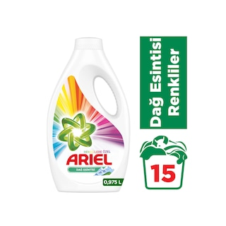 Ariel Dağ Esintisi Renkliler İçin Sıvı Çamaşır Deterjanı 15 Yıkama