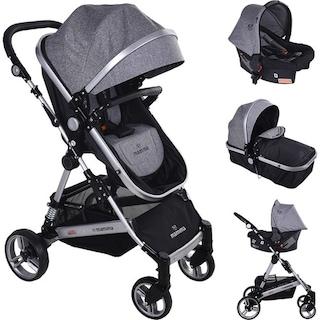 Mamma Fox Travel Sistem Amortisörlü Bebek Arabası Puset