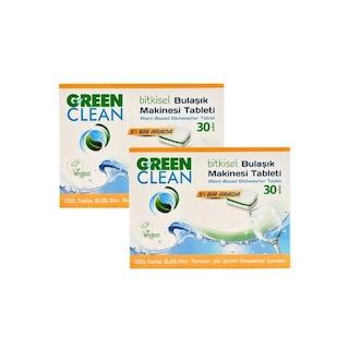U Green Clean Bitkisel Bulaşık Makinesi Deterjanı 2 x 30 Tablet