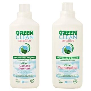 U Green Clean Sensitive Çamaşır Deterjanı 1 L + Yumuşatıcı 1 L