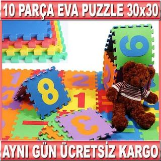 Eva Mat Puzzle Oyun Halısı 10 Parça Set Rakam