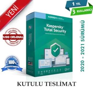 KASPERSKY Total Security Trk Kutu 2020-2021 1yıl 3 Kullanıcı