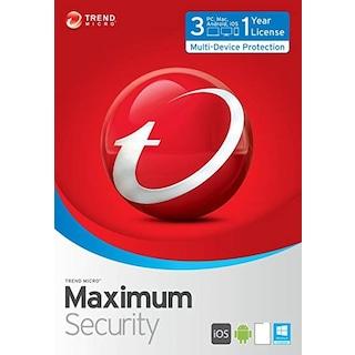 Trend Micro Maximum Security 3 cihaz  1 Yıl 2021 (online teslim)