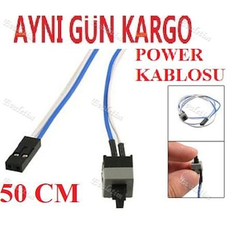 ATX Anakart Power Açma Kapama Butonu 4466a Kablosu Kasa On/Off