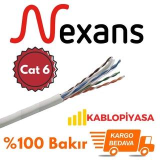 Nexans Cat 6 Ethernet Kablosu 23 AWG %100 Bakır Metre Seçenekli