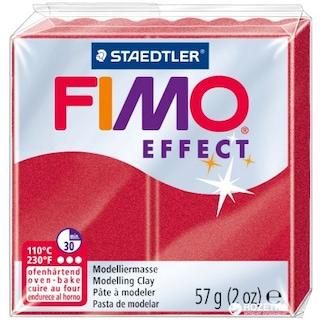 Fimo Effect Polimer Kil Metallic Rubinrot No:28 56 gr