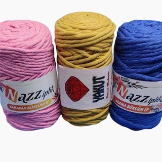 Taranan Taranabilir Makrome Makrame İpi İpliği Pamuk Cotton Koton