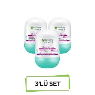 Garnier Mineral Ultra Kuru Roll-On Deodorant 3'lü Set