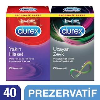 Durex Uzayan Zevk +Yakın Hisset Prezervatif 40'lı Ekonomik Paket