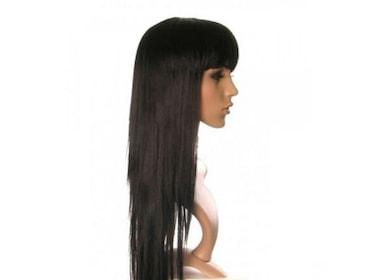 Uzun Peruk Saç - Siyah