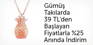 Çoşar Silver Gümüş Takılarda %25 Anında İndirim - n11.com