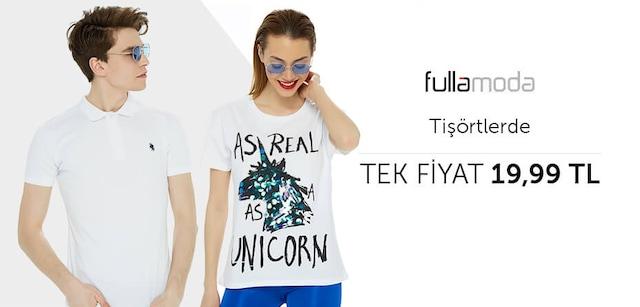 Fullamoda Tişörtlerde Tek Fiyat 19,99 TL