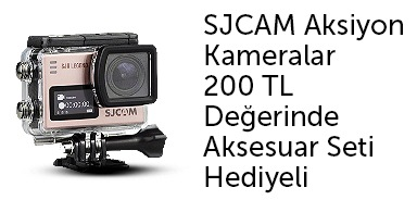 SJCAM Aksiyon Kameralar 200 TL'lik Aksesuar Seti Hediyeli - n11.com