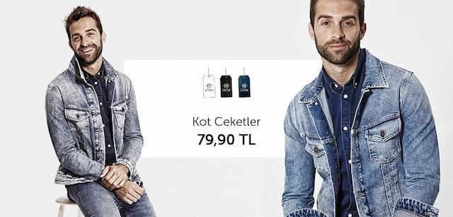 Fit Giyim Kot Ceketler Tek Fiyat 79,90 TL