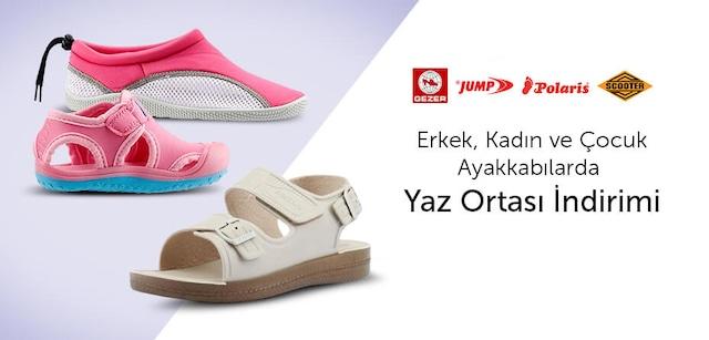 Marka Ayakkabılarda Yaz Ortası İndirimi