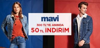 Mavi Yeni Sezon Ürünlerinde 300 TL ve Üzeri Alışverişlerde 50 TL İndirim - n11.com