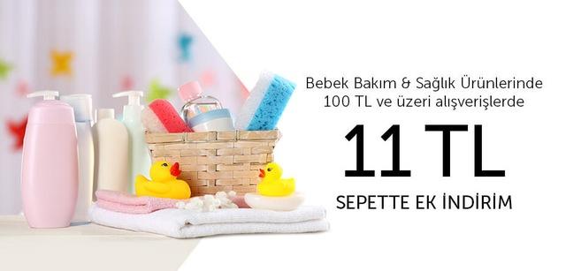 Bebek Bakım & Sağlık Ürünleri - 11 TL İndirim