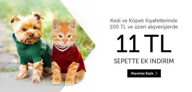 Kedi ve Köpek Kıyafetlerinde Sepette Ek İndirim - n11.com
