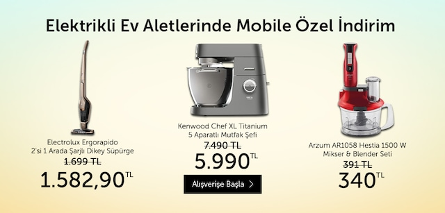 Elektrikli Ev Aletleri Mobile Özel İndirim - n11.com