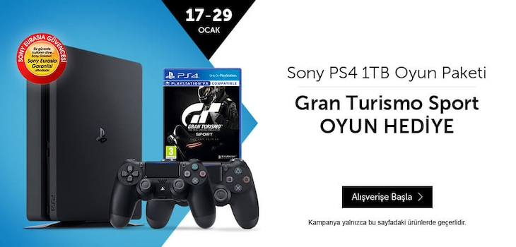 1 TB'lı paketlerde PS4