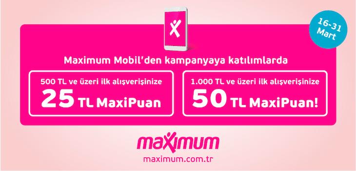 50 TL'ye Varan MaxiPuan Kampanyası