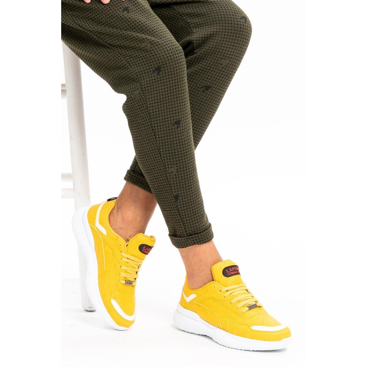 L.A. Polo 106 Sarı Beyaz Erkek Spor Ayakkabı
