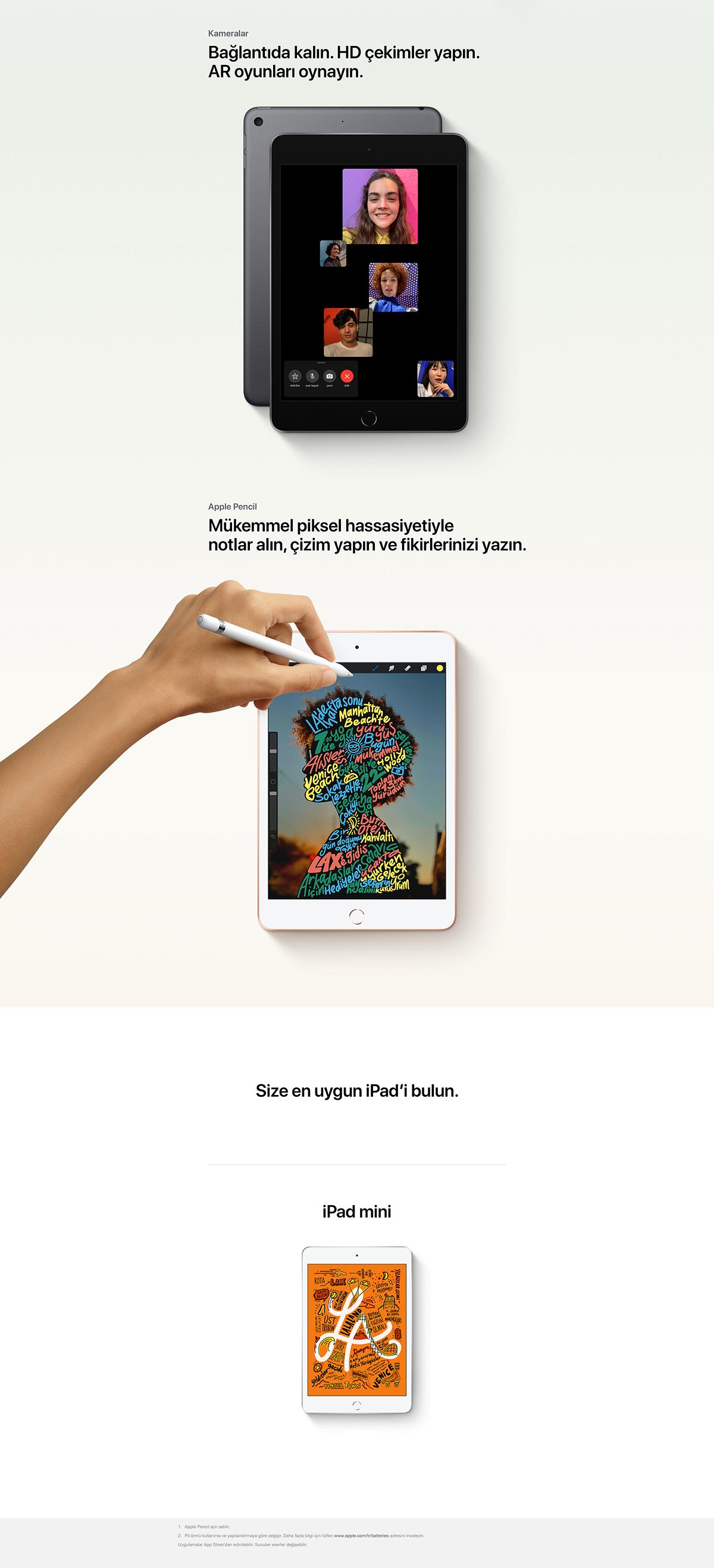 Apple iPad Mini MUQX2TUA 64 GB 7.9 Tablet Gümüş