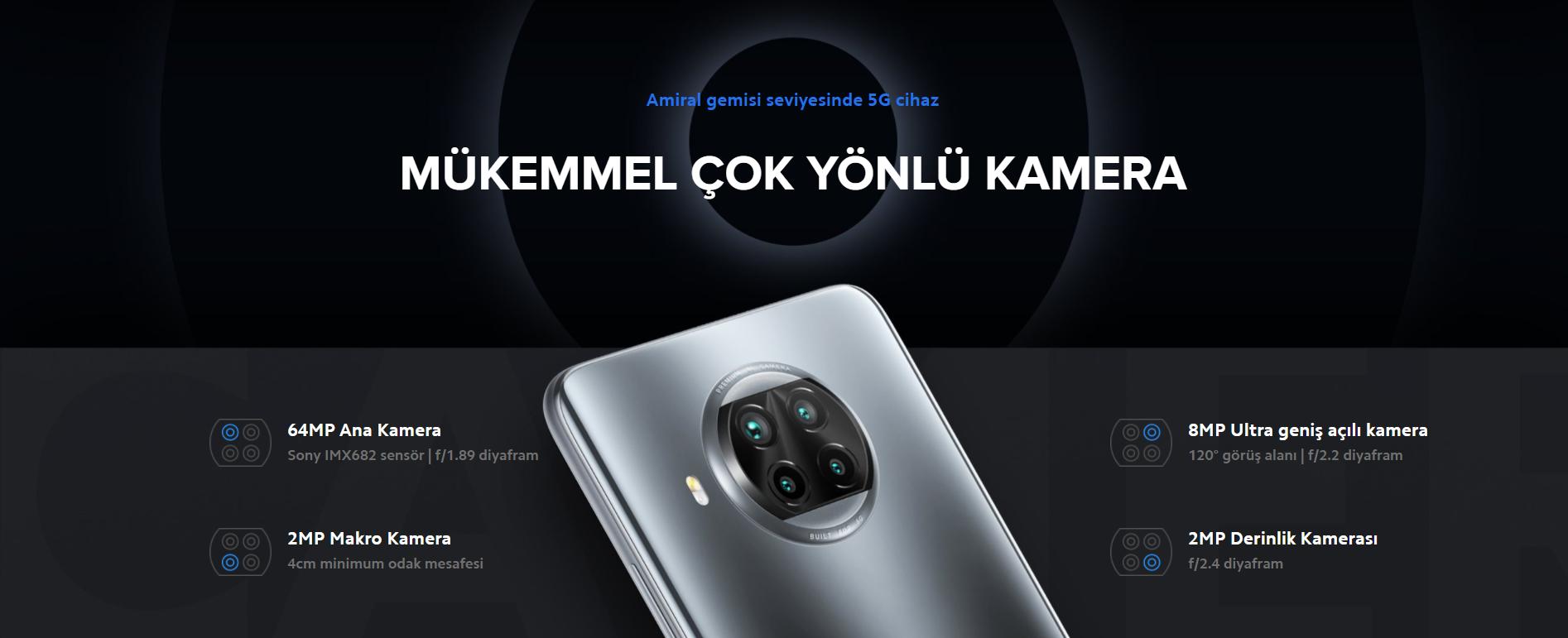Xiaomi Mi 10T Lite 128 GB 6 GB Ram 5G Cep Telefonu