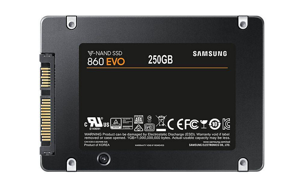 Samsung 860 Evo MZ-76E1T0BW 2.5 250 GB SATA 3 SSD