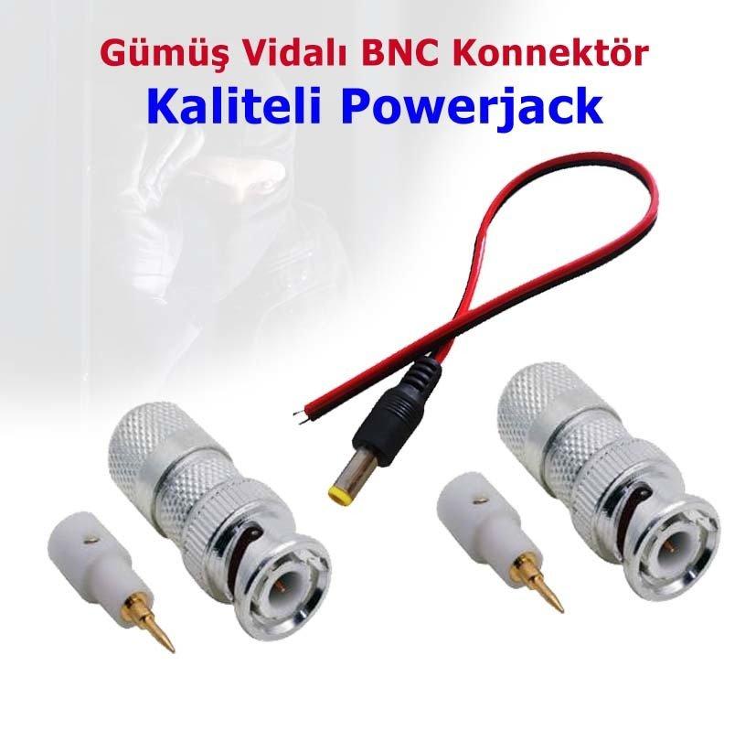 BNC Konnektör ve Powerjack