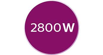 2800 W güç ile hızlı ısınma ve güçlü performans