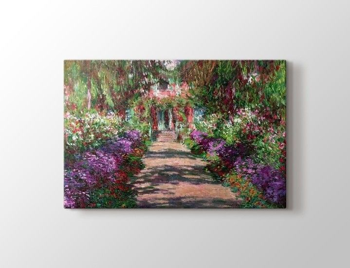 Claude Monet - Garden Path Giverny Tablo