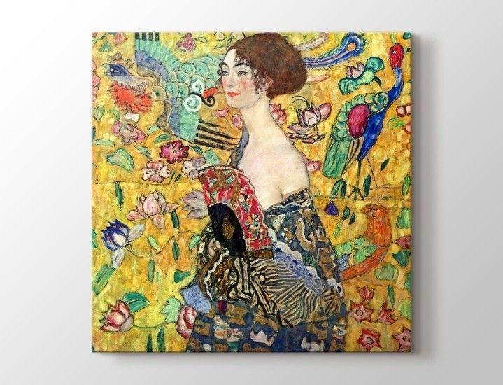 Gustav Klimt - Lady with Fan Tablo