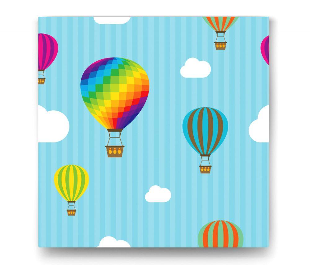 Renkli Uçan Balon Tablo