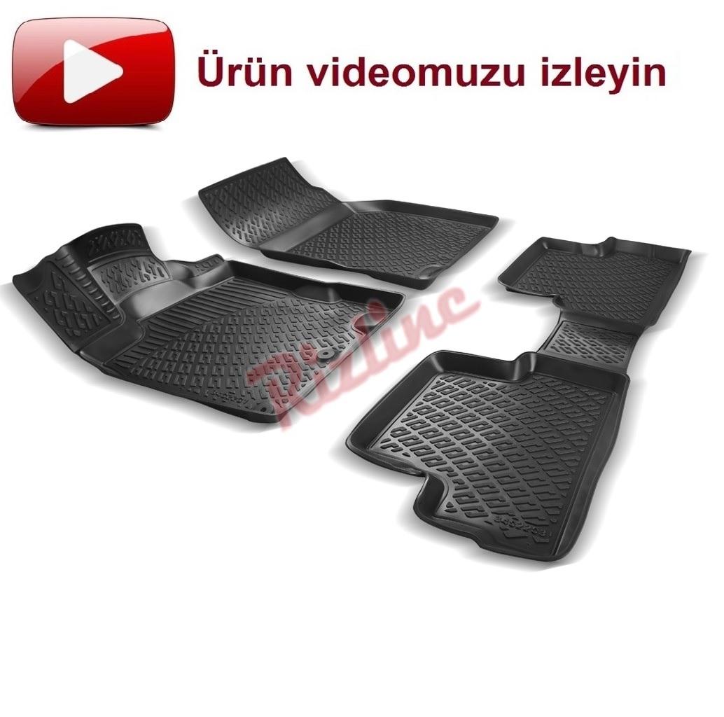 RİZLİNE Nissan Qashqai 2007-2013 3D Havuzlu Paspas